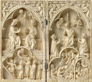 Diptych with the Last Judgment and Coronation of the Virgin, ca. 1250–1270
